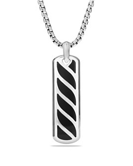 David Yurman - Graphic Cable Ingot Tag with Black Onyx