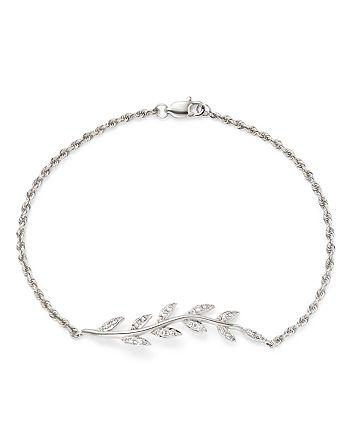 Bloomingdale's - Diamond Leaf Bracelet in 14K White Gold, .20 ct. t.w. - 100% Exclusive