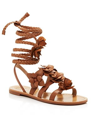 Tory Burch Blossom Lace Up Gladiator Sandals
