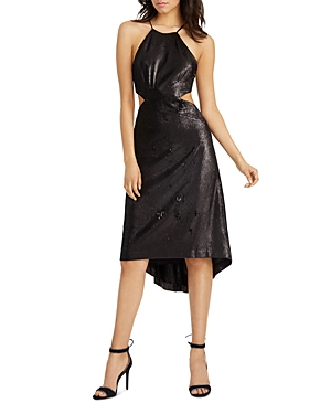 Halston Heritage Cutout Sequin Dress