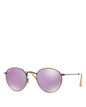 Ray-Ban - Women's Icons Mirrored Round Sunglasses, 50mm