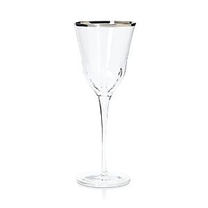 Vietri Optical Platinum Water Glass-Home