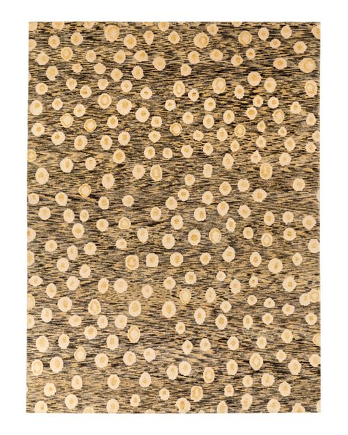 GRIT&ground - L'Oeuf Area Rug - Gray/Yellow, 10' x 14'