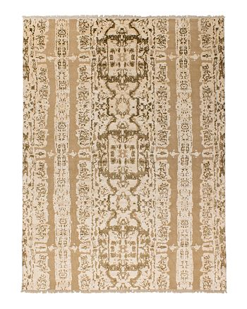 Lillian August - Electro Fusion Vintage Area Rug - White/Gold, 10' x 14'