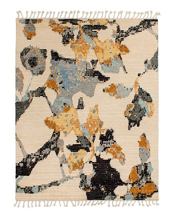 Lillian August - Moroccan Floral Area Rug - Cream/Black/Orange, 9' x 12'