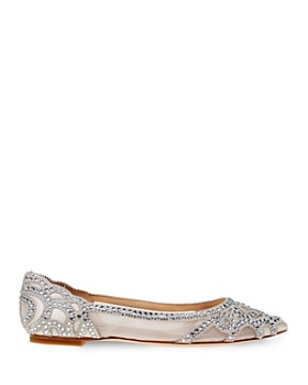 Badgley Mischka - Women's Gigi Embellished Pointed Toe Flats