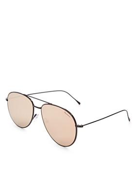 Illesteva - Women's Linate Mirrored Oversized Aviator Sunglasses, 61mm
