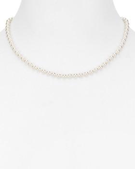 "Nadri - Simulated Pearl Collar Necklace, 16"""