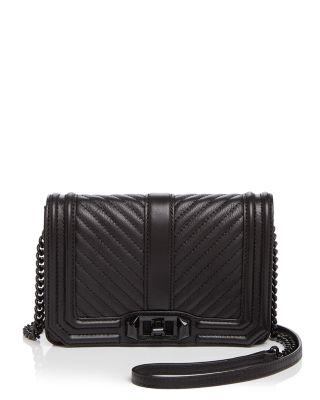$Rebecca Minkoff Love Chevron Quilt Small Leather Crossbody - Bloomingdale's