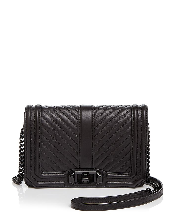 Rebecca Minkoff - Love Chevron Quilt Small Leather Crossbody