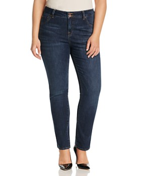 Lucky Brand Plus - Emma Faded Straight Leg Jeans in Mystic Road