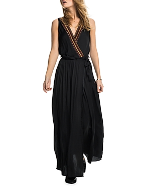 Scotch & Soda Embroidered Maxi Wrap Dress