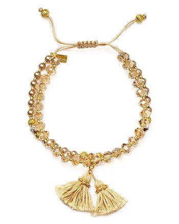 Chan Luu - Swarovski Crystal Beaded Tassel Bracelet