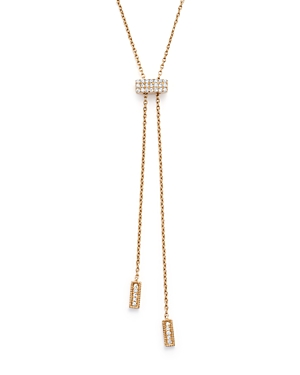 Dana Rebecca Designs 14K Yellow Gold Sylvie Rose Sliding Lariat Necklace with Diamonds, 30