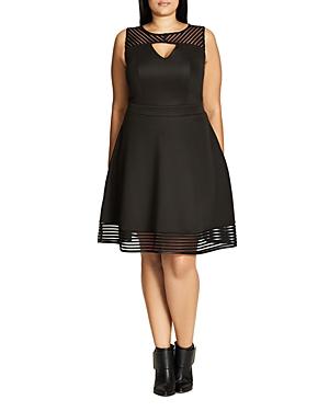 City Chic Elegant Stripe Dress