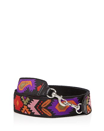 Rebecca Minkoff - Embroidered Pattern Guitar Handbag Strap