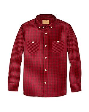 Rose Pistol Boys Gingham Check Woven Shirt  Big Kid
