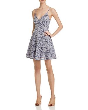 Aqua Embroidered Floral Scallop Slip Dress - 100% Exclusive