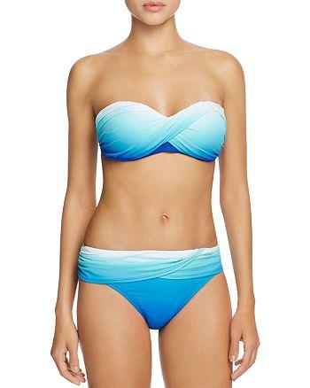 Bleu Rod Beattie - Ombré Twist Bandeau Bikini Top & Ombré Twist Hipster Bikini Bottom