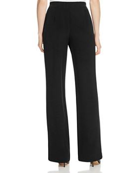 Lafayette 148 New York - Metropolitan Stretch Silk Straight Pants