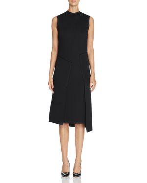 Dkny Asymmetric Overlay Scuba Dress 1857981