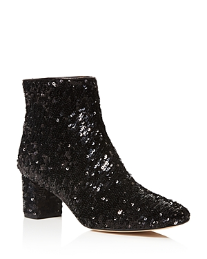 kate spade new york Tal Sequin Block Heel Booties