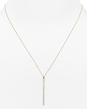 Adina Reyter Diamond Pave Bar Y Necklace, 17