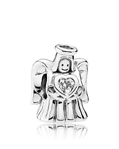 PANDORA Moments Collection Sterling Silver & Cubic Zirconia Angel of Love Charm - Bloomingdale's_0