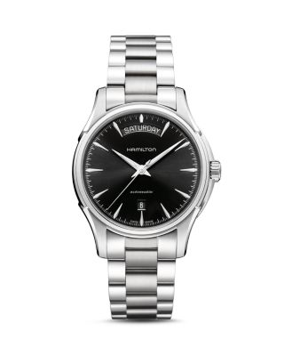 HAMILTON Jazzmaster Automatic Bracelet Watch, 40Mm in Silver/ Black/ Silver