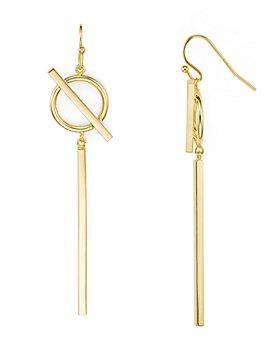 Argento Vivo - Circle and Bar Drop Earrings