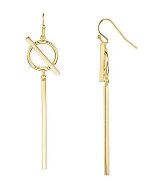Circle and Bar Drop Earrings