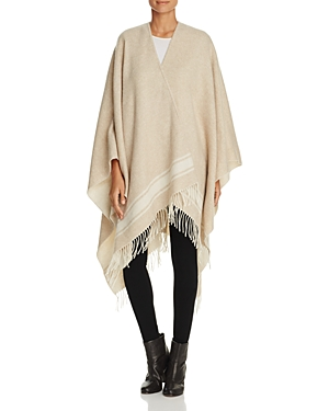 Eileen Fisher Stripe Fringe Hem Ruana at Bloomingdale's