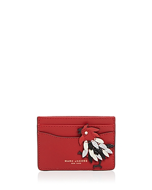 marc jacobs female marc jacobs fire rooster card case