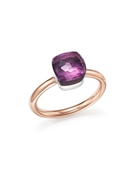 Pomellato - Nudo Mini Gemstone Ring in 18K Rose & White Gold