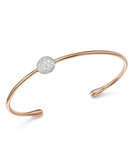 Pomellato - Sabbia Cuff Bracelet with Diamonds in 18K Rose Gold