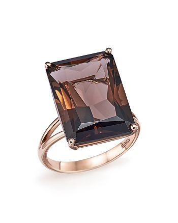Bloomingdale's - Smoky Quartz Statement Ring in 14K Rose Gold - 100% Exclusive