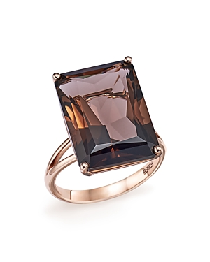 Smoky Quartz Statement Ring in 14K Rose Gold - 100% Exclusive
