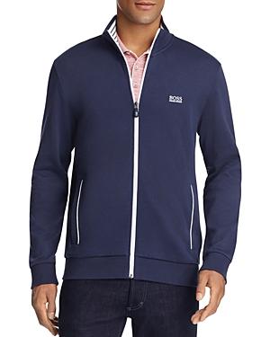 Boss Green Skaz Contrast Trim Zip Sweatshirt