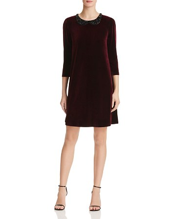 $Betsey Johnson Embellished Velvet Dress - Bloomingdale's