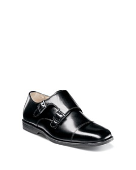 Florsheim Kids - Boys' Reveal Double Monk Strap Dress Shoes - Toddler, Little Kid, Big Kid