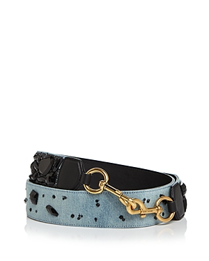 marc jacobs female marc jacobs denim stoneembellished handbag strap