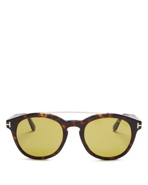 Tom Ford Newman Barberini Round Sunglasses, 53mm