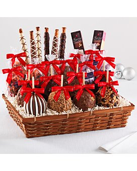 Mrs Prindables - Indulgent Caramel Apples and Confections Holiday Gift Basket