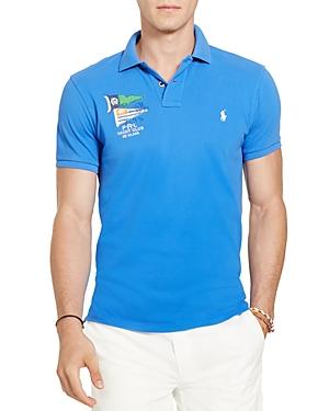 Polo Ralph Lauren Nautical Cotton Mesh Slim Fit Polo Shirt