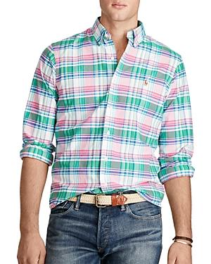 Polo Ralph Lauren Plaid Cotton Oxford Classic Fit Button-Down Shirt
