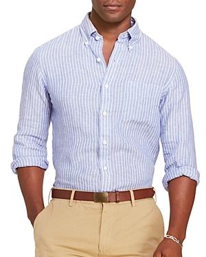 Polo Ralph Lauren Striped Linen Classic Fit Button-Down Shirt