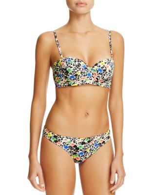 Floral Cupped Bandeau Bikini Top