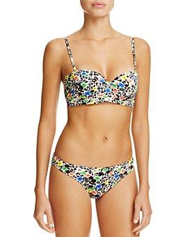 Paul Smith - Floral Cupped Bandeau Bikini Top & Floral Classic Brief Bikini Bottom
