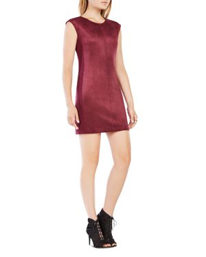 Bcbgmaxazria Karlee Faux-Suede Shift Dress