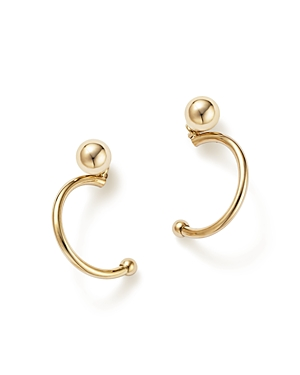 14K Yellow Gold Hoop and Ball Earrings - 100% Exclusive